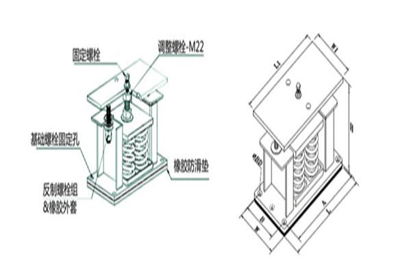 柴油发电机组用ZTF-4-1600上海变压器减振器